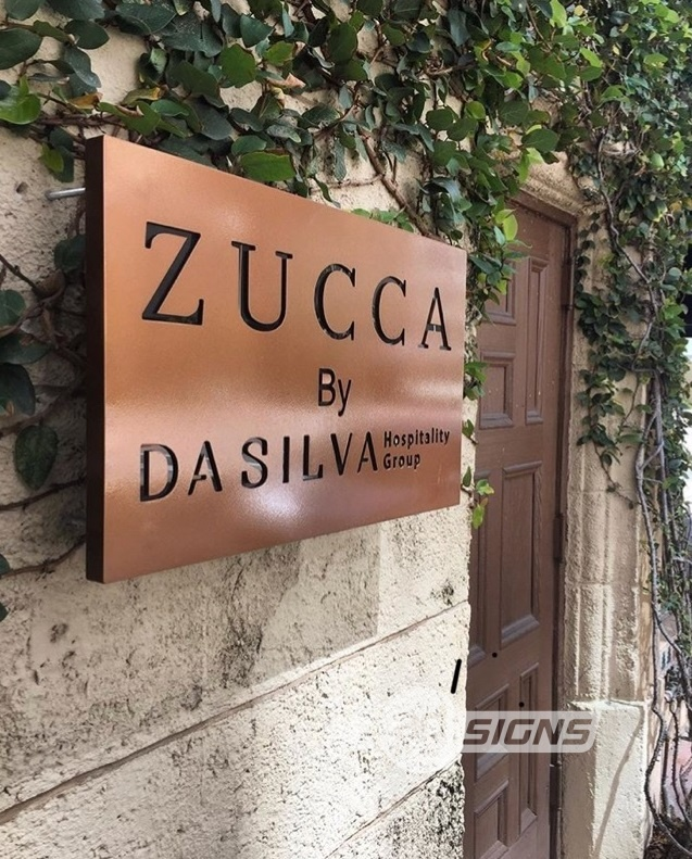 zucca routed sign